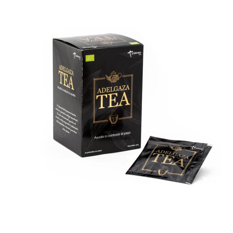 Caja y sobre en detalle del producto Adelgaza Tea