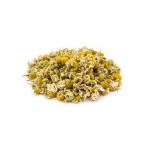 Manzanilla dulce, seca, a granel