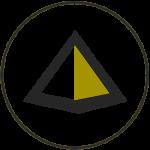 Icono para pirámides de Soilon. Pirámide en gris y verde